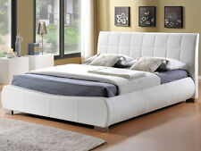 DORADO, DENVER WHITE FAUX LEATHER KING SIZE BED 5FT. NEW IN BOX