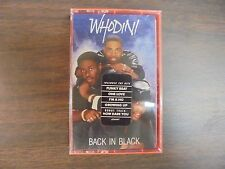 "NEW SEALED ""Whodini Back In Black     Cassette Tape (G)"