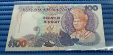 Malaysia $100 Seratus Ringgit ZV5410732 Note by United States Banknote Company