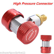 R134a AC Quick Car Air Conditioning Coupler Adapter High Pressure Connector A/C