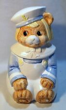 VINTAGE Dutch Boy Bear Sailor Ceramic Cookie Jar