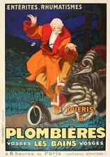 Metal Sign Plombieres Spa Jean D Ylen 1930S French A4 12x8 Aluminium
