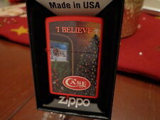 CASE XX KNIFE FACTORY CHRISTMAS TREE I BELIEVE RED MATTE ZIPPO LIGHTER MINT 2013