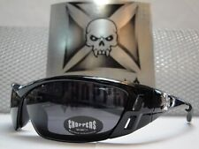 MOTORCYCLE BIKER WRAP SPORT STYLE CHOPPERS SUNGLASSES THIN FLEXIBLE VENTED FRAME