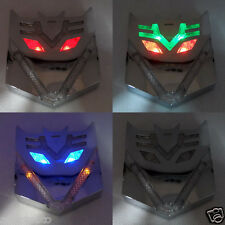 Car Motorcycle Transformers Decepticon LED Solar Flash strobe Light Emblem
