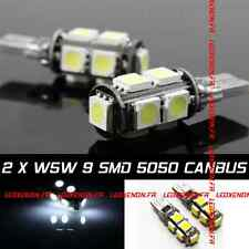 KIT 2 AMPOULE LED T10 W5W 3D CANBUS AUDI A1 A2 A3 A4 A5 A6 A7 A8 S3 S4 RS4 Q7