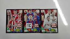 ADRENALYN XL 2016/2017 SUPER HÉROES SET COMPLETO LAS 3 CARDS LIGA SANTANDER