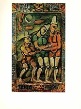 "1977 Vintage ROUAULT ""THE INJURED CLOWN"" COLOR offset Lithograph"