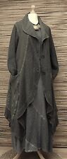 LAGENLOOK*KEKOO*COTTON BEAUTIFUL 2 POCKETS KNIT LONG JACKET*KHAKI*SIZE 46-48