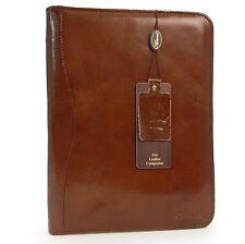 Chelsea Genuine Leather Document Holder A4 Sleeve Zip Folder Sleeve  Chestnut