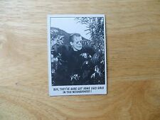 1973 UNIVIVERSAL MONSTERS YOU'LL DIE LAUGHING BUBBLE GUM CARD # 48 FRANKENSTEIN