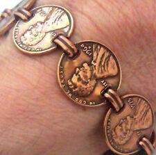 """Copper Bracelet 8.5 """" Wheeler Lincoln Detox Arthritis Healing Folklore CB 252"""
