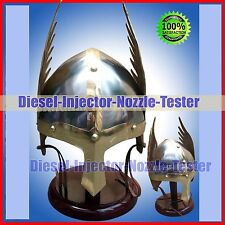 Medieval Norman Viking Winged Helmet King Helm Fully Wearable w/ Leather Liner