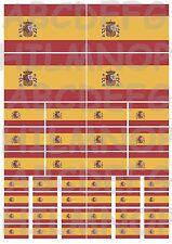 DRAPEAU ESPAGNE: 40 autocollants rèsistant l'eau STICKERS voiture SPANISH FLAGS
