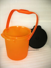 Tupperware Halloween Candy Carrier With Cariolier Handle Tangelo Black Seal New