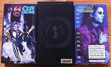 LOT OF 3 OZZY OSBOURNE VHS VIDEOS ULTIMATE OZZY / DON'T BLAME ME /  LIVE & LOUD