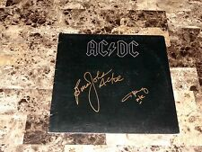 AC/DC Angus Young & Brian Johnson RARE Signed Back In Black Vinyl LP Record +