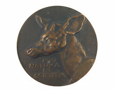 "Belgian bronze medal ""PRO NATURA ET SCIENTIA""1968 by Arthur Dupon"