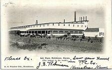 Postcard KS Hutchinson Sal Plant Largest In The World UDB D30