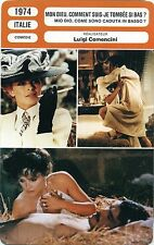 Movie Card. Fiche Cinéma. Mon dieu, comment suis-je tombée si bas? (Italie) 1974