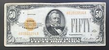 $50 Series 1928 Gold Certificate