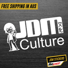 JDM CULTURE JDM CAR STICKER DECAL Drift Turbo Euro Fast Vinyl #0288