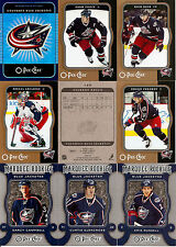 2007-08 OPC O-Pee-Chee Columbus Blue Jackets Complete Team Set w/ Foil CL (24)