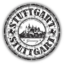 "Stuttgart City Germany Grunge Travel Car Bumper Sticker Decal 5"" x 5"""