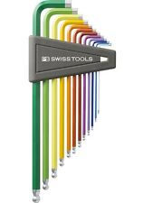 12-pcs PB Swiss Tools PB212ZHL12 Rainbow Colour Ball-end Hex Wrench 1/20-5/16