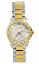 Gucci G-Timeless YA126531 Silver Dial Two-Tone Stainless Steel Women's Watch