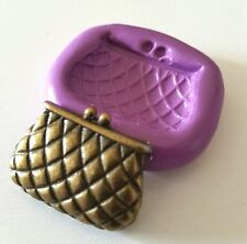 Purse Bag Flexible Silicone Mould Cake Decorate Polymer Clay Sugarpaste