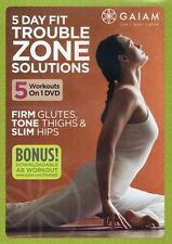 Yoga, Pilates and Kickboxing EXERCISE DVD - Trouble Zone Solutions - 5 workouts!