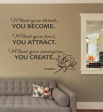 Buddha Quote Wall Decals Motivation Sticker Lotus Decal For Home Bedroom FD145