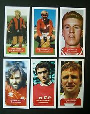Group of 6 AFC BOURNEMOUTH Score UK football trade cards BEST BOYER MACDOUGALL