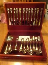 Vintage Godinger 51 Pieces Gold Plated Silverware Set In Wooden Box VGU