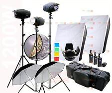 1200W Studio Strobe Flash Light Kit 3 x 400W  Photography Lighting