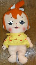 "Vintage KNICKERBOCKER Cloth Doll 7"" PEBBLES 1972 Hanna-Barbera Flintstones"