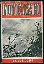 LECCISOTTI TOMMASO MONTECASSINO VALLECCHI 1946 SECONDA GUERRA MONDIALE