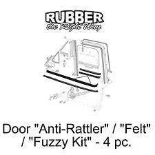 1973 - 1979 Ford Truck & 78-79 Bronco Door Anti Rattler / Fuzzy / Felt Kit 4 pc.
