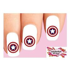 Waterslide Nail Decals Set of 20 - Captain America Shield