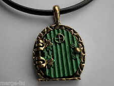 Hobbit Green Fairy Bilbo Door Pendant Lord of the Rings Locket necklace opens