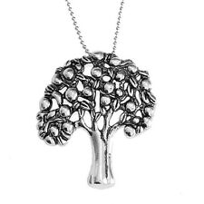 Antique Silver Tree of Life Pendant Necklace Jewellery with 80 cm Ball Chain
