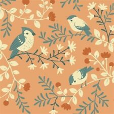 ACORN TRAIL BIRDS ON BRANCHES ORGANIC FABRIC