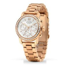 NWT Coach Women Watch Rose Gold Stainless Bracelet & Glitz LEGACY 14501884 $295