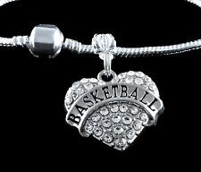 Basketball Charm Fits European style Bracelet Basketball player charm
