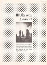 ULTRAVOX Lament UK magazine ADVERT / mini Poster 11x8 inches