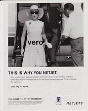 NETJETS magazine print ad 2015 clipping private jet airplane aircraft NETJETS