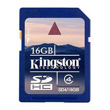 Kingston 16GB 16 GB Memory Card SDHC SD HC Class 4 Kingston SD4 Flash Memory