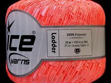 Psychedelic Salmon Ladder Ice Phosphoric Trellis Ribbon Yarn 50gr 164yds 31513