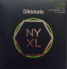 D'Addario NYXL Electric Guitar Strings 11-56 d-tuning gauge